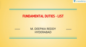 CSE Fundamental Duties List