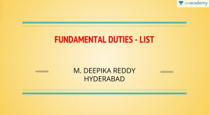 Fundamental Duties List