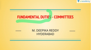 UPSC CSE Fundamental Duties Committees