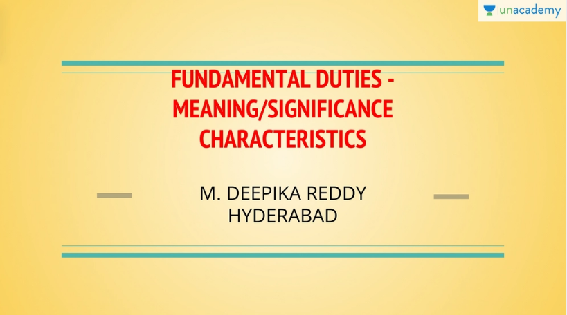 UPSC CSE Fundamental Duties Introduction