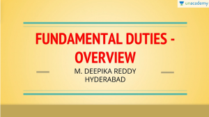 UPSC CSE Fundamental Duties Overview