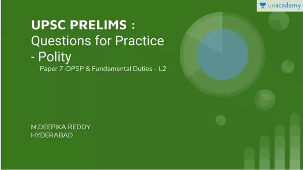 UPSC Prelims DPSP and Fundamental Duties Questions