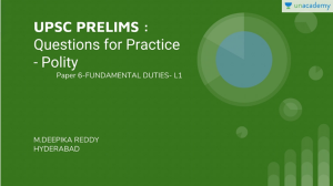 UPSC Prelims Fundamental Duties Questions