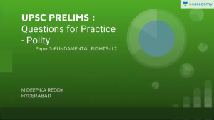 UPSC Prelims Polity Fundamental Rights Practice Questions