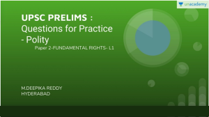 UPSC Prelims Fundamental Rights Practice