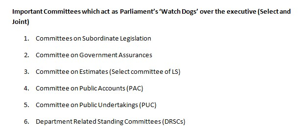 Important Parliamentary Committees in Detail