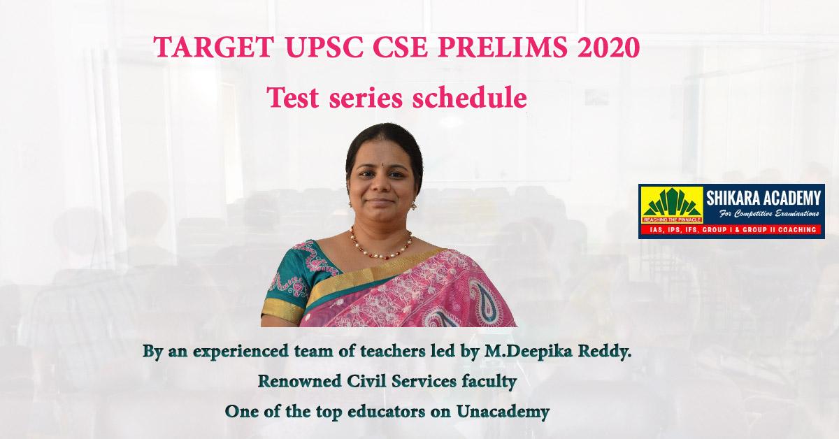 Target UPSC CSE Prelims 2020 Test Series Schedule